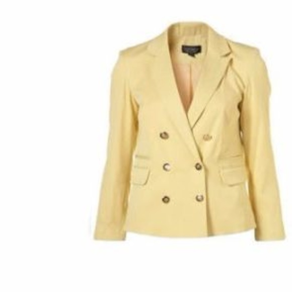 1681fb670 Topshop Jackets & Coats | Gold Button Double Breasted Jacket Blazer ...